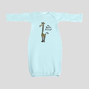 Funny Giraffe Spirit Guide Baby Gown