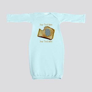 YOUR FACE Grilled Cheese Sandwich Baby Gown
