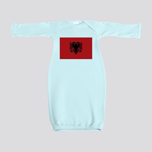 Albanian flag Baby Gown