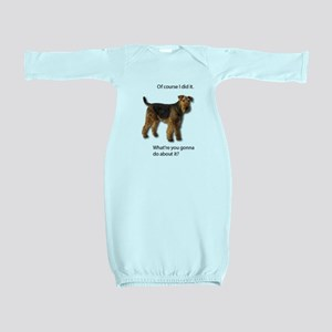 Guilty Airedale Shows No Remorse Baby Gown