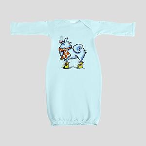 Samoyed Snowflake Baby Gown