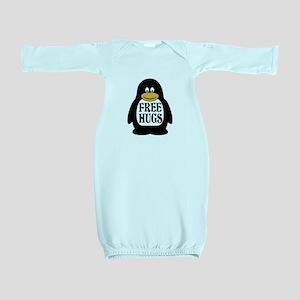Free Hugs Penguin Baby Gown
