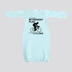 Cyclist Retirement Plan Baby Gown