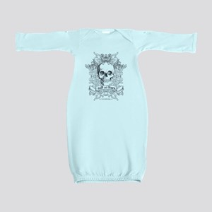 Skull salt and burn Baby Gown