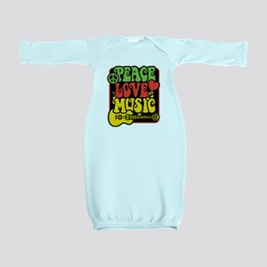 Rasta Peace Love Music Baby Gown