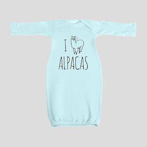 I Love Alpacas Baby Gown
