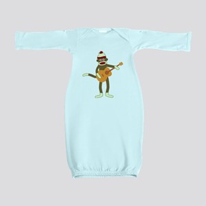 Sock Monkey Acoustic Guitar Baby Gown