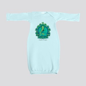 Teal psychedelic Buddha Baby Gown