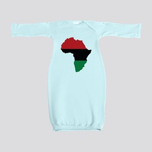 Red, Black and Green Africa Flag Baby Gown