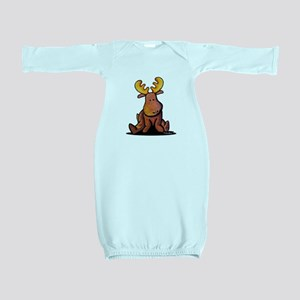 KiniArt Moose Baby Gown