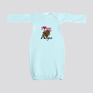 I Love My Angus Baby Gown