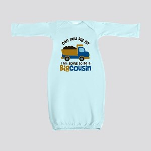 Dump Truck Big Cousin to be Baby Gown