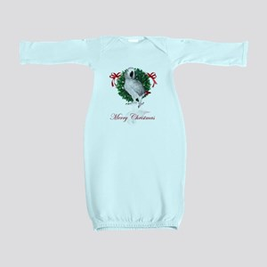 african grey christmas Baby Gown