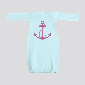 Pink Anchor Baby Gown