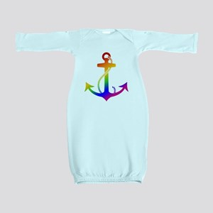 Rainbow Anchor Baby Gown