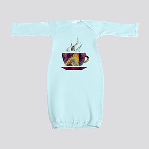 Colorful Cup of Coffee copy Baby Gown