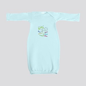 hope love dream smile grow create relax Baby Gown