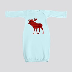 Moose: Rustic Red Plaid Baby Gown
