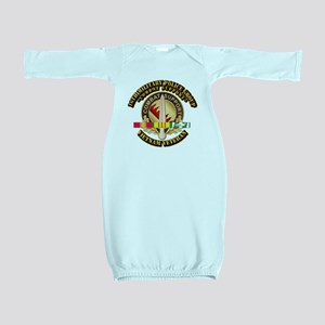 16th Military Police Group w SVC Ribbon Baby Gown