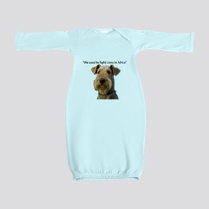 Airedales used to Fight Lions in Africa Baby Gown