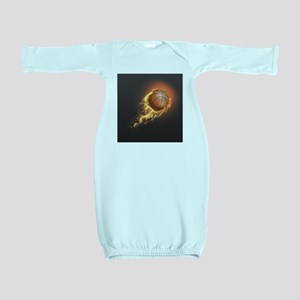 Flaming Basketball Baby Gown