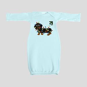 Dachshund (Blk/Tan)... Baby Gown