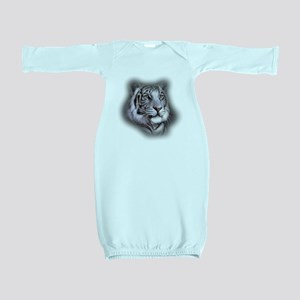 White Tiger Face Baby Gown