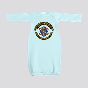 1st Bn - 4th Marines with Text Baby Gown