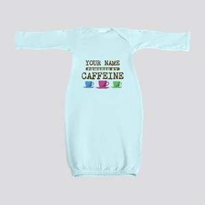 Powered by Caffeine Baby Gown