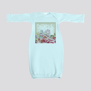 Abstract Floral Baby Gown