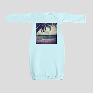 Tropical Beach Baby Gown
