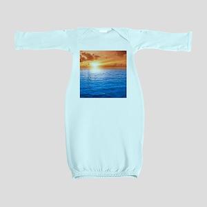 Ocean Sunset Baby Gown