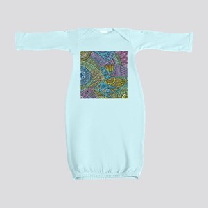 Colorful Abstract Baby Gown