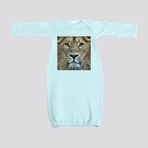 Realistic Lion Painting Baby Gown