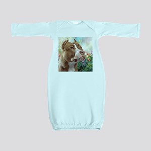 Pit Bull Painting Baby Gown