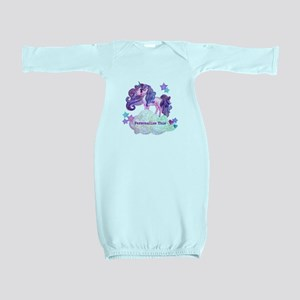 Cute Personalized Unicorn Baby Gown