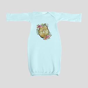 Monogram Initials in Wood Baby Gown