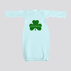 CUSTOM Shamrock with Your Name Baby Gown