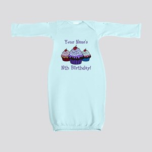 CUSTOM Your Names Nth Birthday! Cupcakes Baby Gown