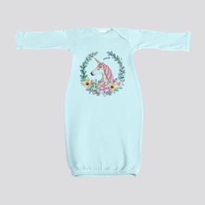 Pink Unicorn Baby Gown