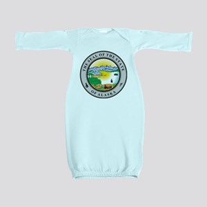 Alaska State Seal Baby Gown