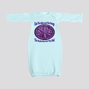 Chi Rho Alpha Omega Baby Gown