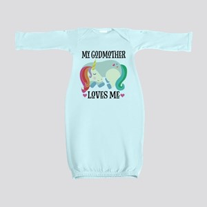 Godmother Loves Me Unicorn Baby Gown