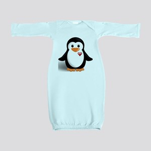 penguin with heart Baby Gown