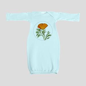 Golden Poppy Baby Gown