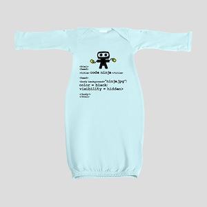 I code like a ninja Baby Gown