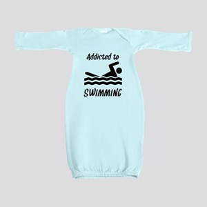 Addicted To Swimming Baby Gown