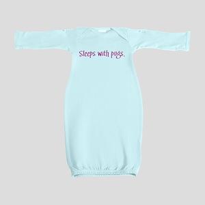 sleeppug pink Baby Gown