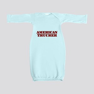 American Trucker Baby Gown