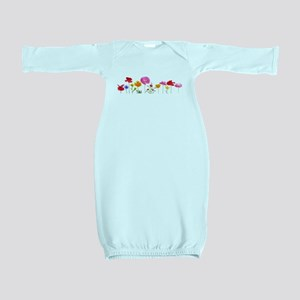 wild meadow flowers Baby Gown